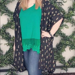 Green Lacey Tank Top